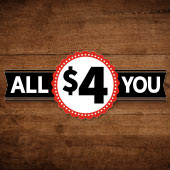 All $4 You Sale