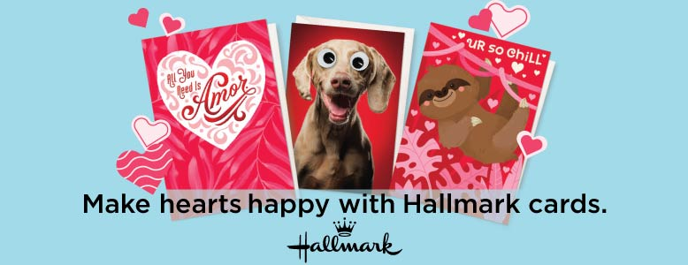 Tell someone how you feel this Valentine's Day with a Hallmark card from Food City.