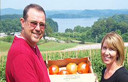 The Turley's are fourth-generation farmers delivery the freshest locally grown Grainger County tomatoes direct to you at your local Food City.