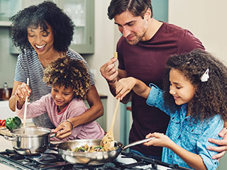 While you are stuck at home, share your favorite food preparation and cooking tips with your kids or significant other. Sharing meals together is so important for physical and mental health.