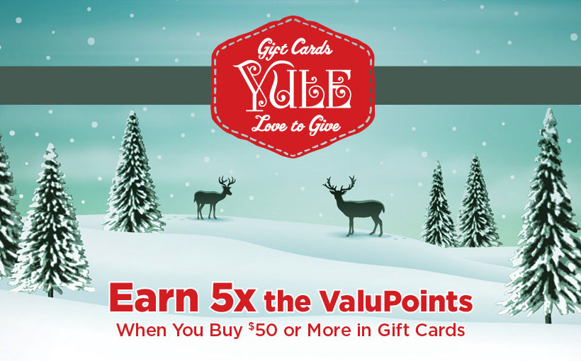 Earn 5x ValuPoints