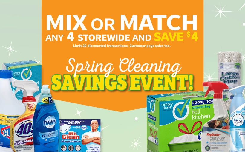 Spring Cleaning Savings