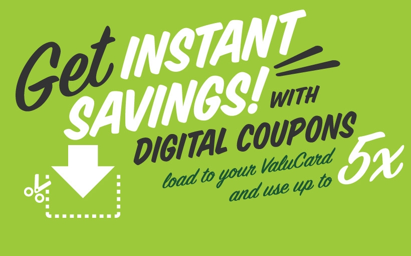 5x Digital Coupons