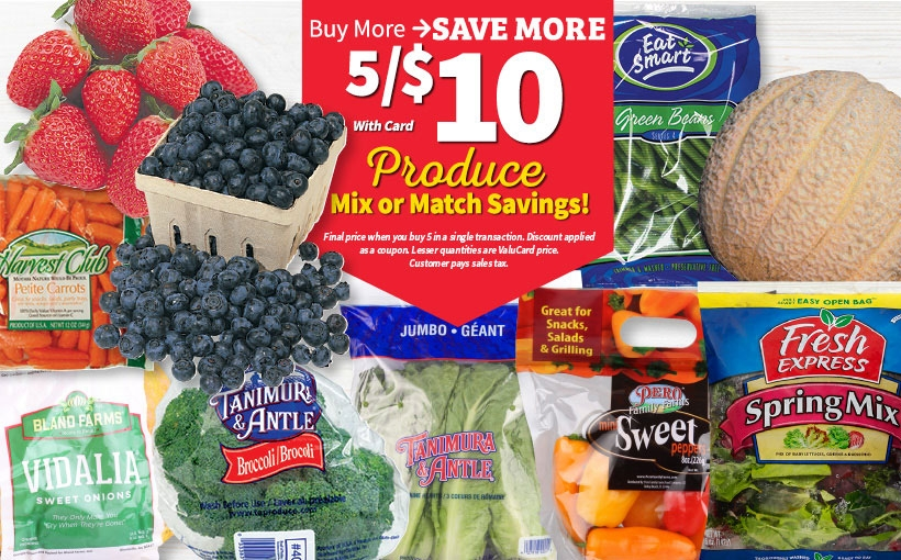 Mix & Match Produce Sale
