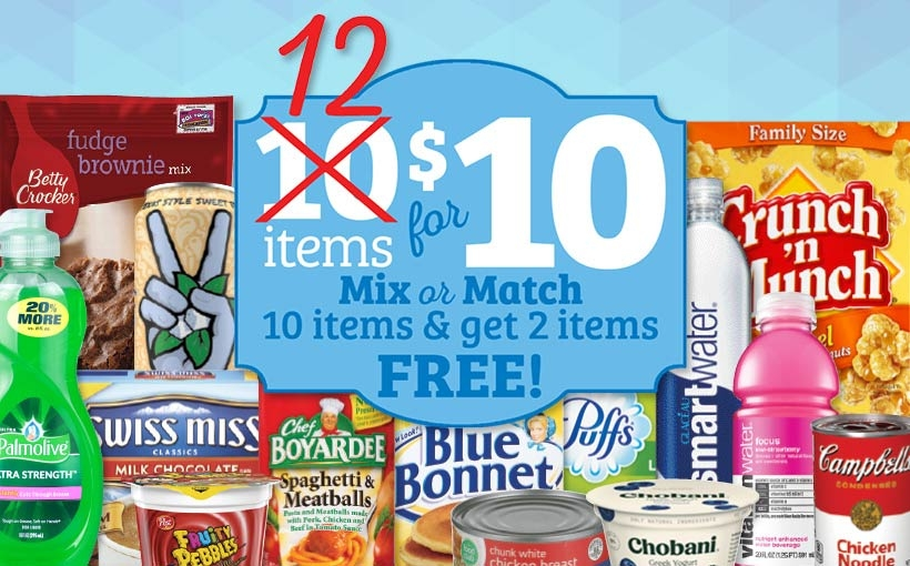 12 for $10 Sale