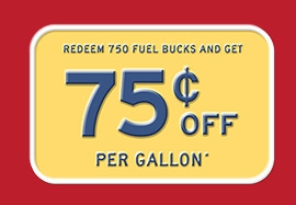 Save 75¢ on Fuel